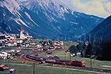 543060 Arlberg Route Passenger Train Near Pettneu Austria