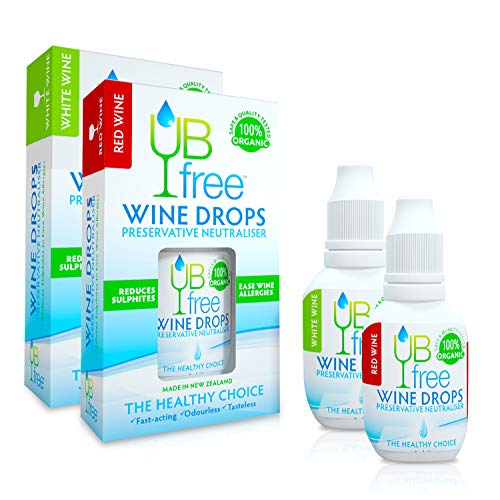 UBfree Wine Sulfite Remover | An Organic and Discrete Alternative to a Wine Wand or a Wine Filter | Enjoy Red and White Wine Without the Headaches and Allergies | Made in New Zealand | 1 Multi Pack