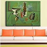 REDWPQ Imagen de Arte de Pared Salvador Dali Litografía firmada Mad Tea Party de Wonderland Suite Imágenes de Lienzo para decoración de Sala de Estar Arte sin Marco 50X70Cm