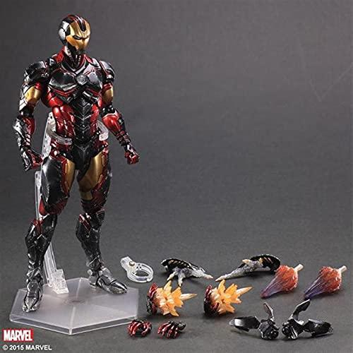 Figura de acción Película Play Arts Super Heroy Acerca de 28 cm Hombre Hombre Tony Stark Ornament Modelo Hecho a Mano Hobbies Modelo Modelo Toy Figuras Figura Juguete (Color : Iron Man)