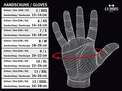 C.P. Sports Profi-Gym-Doppelbandagen-Handschuh, Fitnesshandschuh, Trainingshandschuh L - 5
