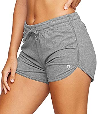 Colosseum Active Women's Simone Cotton Blend Yoga and Running Shorts (Smoked Pearl, Small)