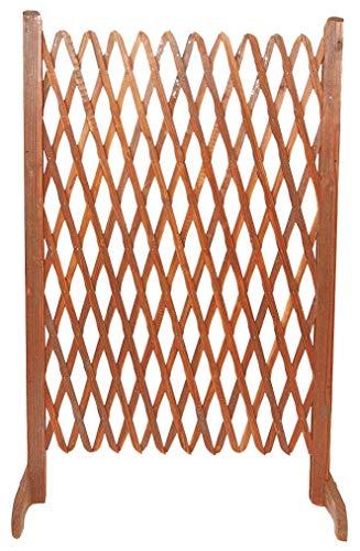 HOMEGARDEN Coppia Steccato Estensibile per Giardino in Legno Trattato 140x120cm