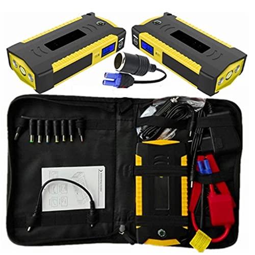LUGEUK Car Jump Starter Power Bank Portable Car Battery Supercharger Charger 12V Starter Gasoline Diesel Car Starter (Color : Yellow)