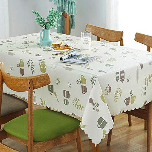 Traann Plastic tafelkleed afvegen, vierkant plastic tafelkleed bescherming olie/vinyl doek alle gelegenheden tafelservies theepot 135*200