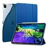 ESR iPad Pro 11 ケース 2020 オートスリープ/ウェイク対応 [鑑賞/タイピングスタンドモード][ゴム製カバー付き柔軟性抜群TPU背面] リバウンドスリムスマートケース(ネイビーブルー)