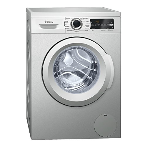 Balay 3TS986XT Independiente Carga frontal 8kg 1200RPM A+++ Acero inoxidable - Lavadora (Independiente, Carga frontal, Acero inoxidable, Izquierda, LED, 58 L)