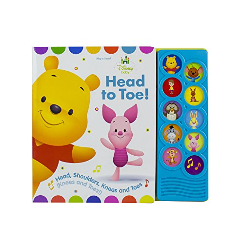 Disney Baby Winnie the Pooh - Head to Toe! 10-Button Sound Book - PI Kids (Play-A-Song)