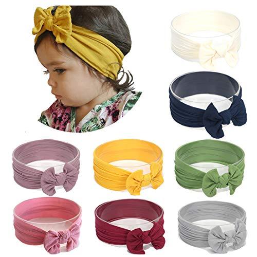 Simoda Joyfeel's Store Cintas para el pelo de Nylon para bebés Turbante...