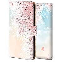 AQUOS sense2 SH-01L ケース 手帳型 アクオス センス2 カバー SH-01L スマホケース おしゃれ かわいい 耐衝撃 花柄 人気 純正 全機種対応 WX007- 桜の花 フラワー ファッション 9089211