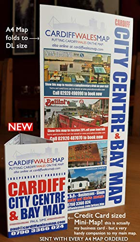 Cardiff City centre Cardiff Bay A4 map