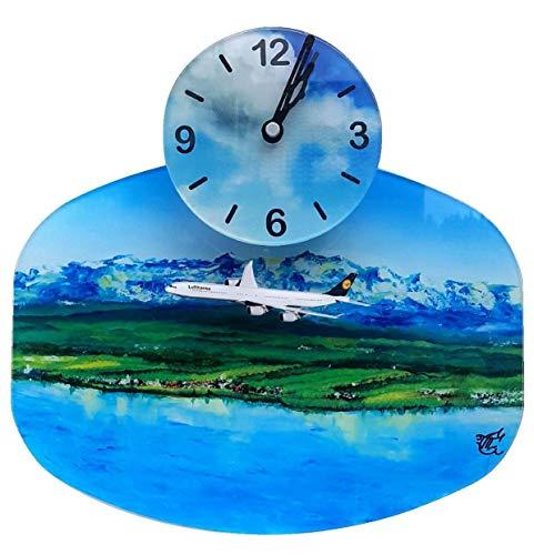 Pilot Edition - Airbus - Boeing - Cessna - Flugzeug - PendelArt Uhr