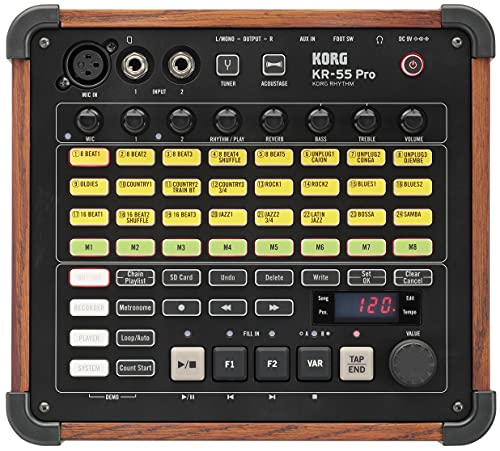 KORG ミキサー/レコーダー機能搭載 リズムマシン KR-55 Pro