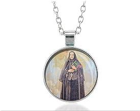 St Francesca Cabrini Religious Necklace Round Medal