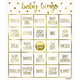 Unique Party - Juego de Bingo para Fiesta de Baby Shower de Oro para 8 Personas (73410) , color/modelo surtido