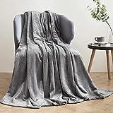 Hansleep Kuscheldecke Grau 130x165 cm Wohndecke Fleecedecke extra Weich und Warm Sofadecke/Couchdecke Flauschige Decke Mikrofaser Bettüberwurf Tagesdecke