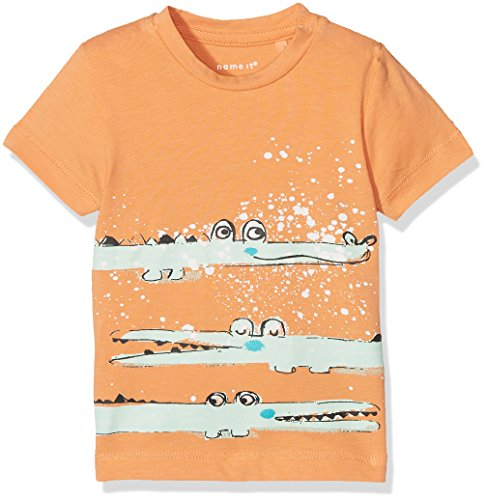 Name It Nbmdestin SS Top T-Shirt, Orange (Copper Tan), 68 Bébé garçon