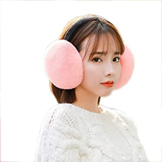 Earmuffs Women's Winter Warm Earmuffs Thickened Adjustable Plush Ear Cover Keep Ears Warm Fashion (Color : Pink)