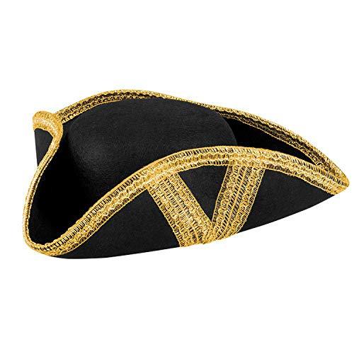 Boland 04039 Chapeau de corsaire Royal Fortune, Noir