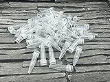 Tarros de reacción con tapón de rosca, plástico, tubo de centrifugado de 1,5 ml, cápsulas vacías, cápsulas de tela, laboratorio (paquete de 100 unidades)