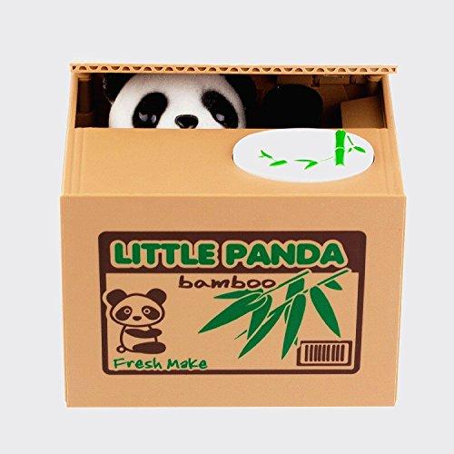 Süße Spardose für Münzen im Panda-Design, Geld-stehlender Panda in Box, 1 Stück