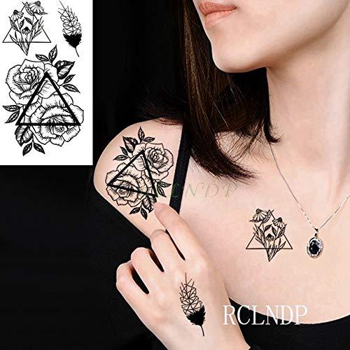 ljmljm 10 Piezas Impermeable Tatuaje Pegatina Daga Cuchillo Tatuaje Tatuaje Cuello muñeca pie Mano para niña Mujer Hombres Grupo Verde 6x4 cm