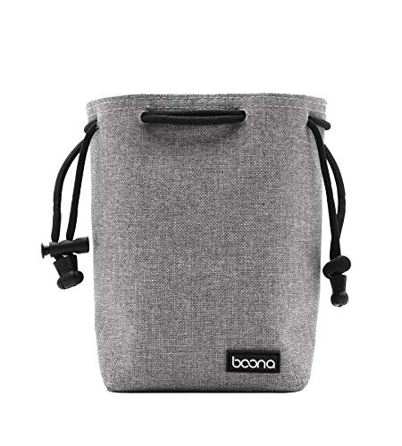 Baona Waterproof Velvet Protect Kamera- und Objektivtasche Tasche für DSLR Nikon Canon Sony Pentax Kamera- und Objektivtasche (Kameratasche, S, Grau)