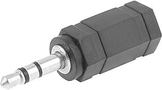sourcing map 20 pcs DC Macho Conector 3.5mm X 1.35mm Adaptador De Cable De Alimentaci/ón Negro