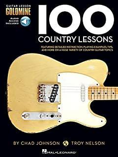 100 Country Lessons: Guitar Lesson Goldmine Series [Lingua inglese]