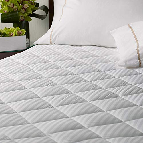 Westin Mattress Pad - Plush Quilted Mattress Topper with Deep Fitted Sides - King (78