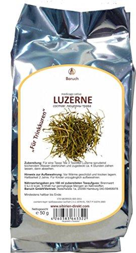 Luzerne - (Medicago sativa, Saat-Luzerne, Alfalfa, Schneckenklee, Ewiger Klee, Lucerne) - 50g