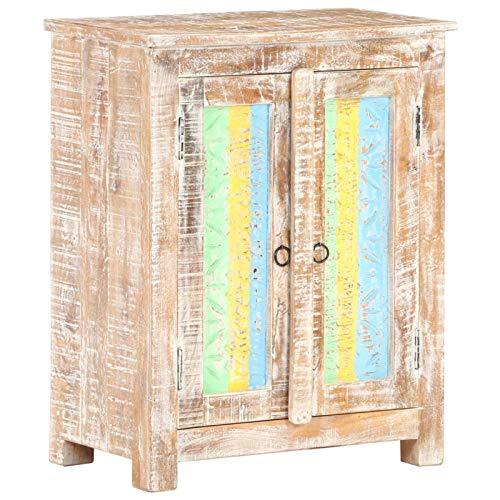 Tidyard Aparador de Madera Mueble Entrada Recibidor de Mango 2# Rugosa 61x35x76 cm