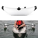 Lixada Kayak estabilizador PVC Inflable Outrigger Kayak Canoa Barco de Pesca de Pie Flotador Sistema Estabilizador (Blanco)