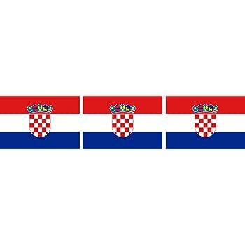 Etaia 2 5x4 Cm 3x Mini Aufkleber Fahne Flagge Von Kroatien Croatia Hrvatska Kleine Europa Länder Sticker Auto Fahrrad Motorrad Bike Auch Für Dampfer E Zigarette Sisha Auto