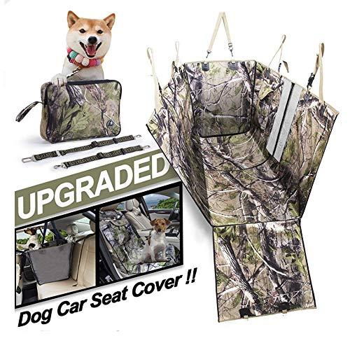 Hahaiyu Abdeckungen Autositz für Hunde, wasserdicht, Anti-Fleck, Anti-Skid, Kratzfest, abnehmbaren und montiert Am besten für Jeep, Trunk, SUV, Familien-Auto, Limusine