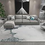 Kunsen Alfombra Salón Diseño de patrón de chapoteo de Color Beige Gris decoración del hogar Alfombra 180X250cm