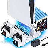 OIVO Soporte Vertical con Ventilador de Refrigeración para Playstation 5, Soporte PS5 con Cargador...