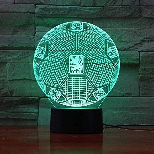 3D Optische Täuschung Nachtlicht TSV 1860 München Smart 7 Farben LED Touch Tischlampe für Kinder Geburtstag Weihnachten