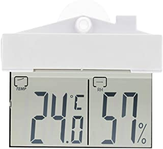 Goolfly Multifunctional Outdoor/Indoor LCD Display Temperature Humidity Meter with Suction Cup Digital Thermometer Hygrome...