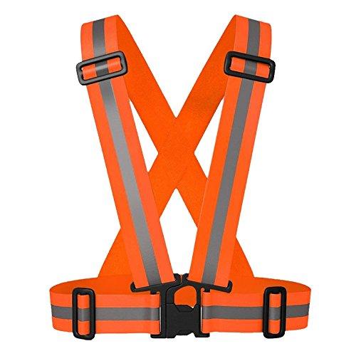 wildeal Unisex Warnweste Gürtel verstellbar Luminous Outdoor Motorrad Running Radfahren Hundegeschirr Weste Orange