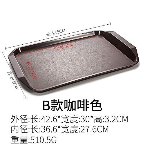 GYHJG Tablett Rechteckigen Kunststoffplatte Burger Laden Tablett Kommerziellen Fast-Food-Geschirr 42,5X29,8X3,2 cm