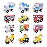MAOJIE Juegos niños 6 años Juguetes niño 4 educativos 3 5 12 Unids / Set Juego de Juguete de Coches de camión magnético Juego de camión móvil de Juguete para niños Niños Niñas Regalo de cumpleaños