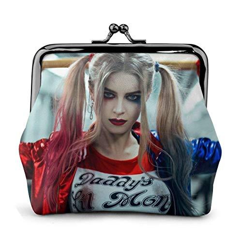 Clown Girl Halle Quinn Leder Geldbörse Print Lock Kleine Geldbörse Clutch für Damen Mädchen ModeHochwertige Mikrofaser Leder Geldbörse