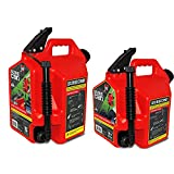SureCan Self Venting Easy Pour 5 & 2.2 Gal Flow Control Gas Containers (2 Pack)