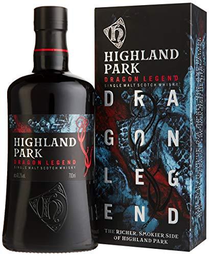Highland Park Dragon Legend Single Malt Scotch Whisky (1 x 0.7 l) – intensives, aromatisches Raucharoma, inspiriert durch die Wikinger-Saga