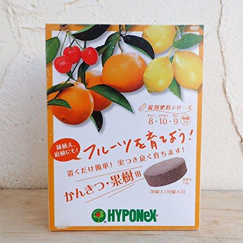 置肥:ハイポネックス:錠剤肥料 かんきつ果樹用30錠入り 2個セット[柑橘の鉢植えに最適]