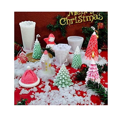 Stampi per sapone per aromaterapia, in 3D, per creare sapone e sapone, per decorare l'albero di Natale, cioccolato, profumato per aromaterapia, sapone, cera, sapone, per decorazioni natalizie