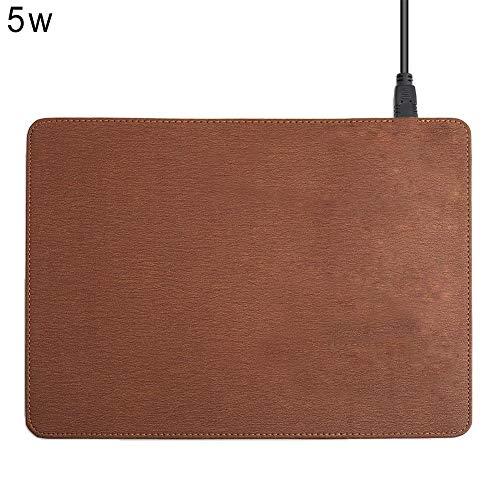 JIANYUXIN Mauspad 5 / 10W Handy Wireless Ladegerät Mauspad Matte Für iPhone X 8 8Plus Samsung S8 Plus S7 S6 Edge Notebook 8 Note 5, Braun 5W, A