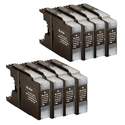 WXX QQBH Sustitución del Cartucho de Tinta LC1240 / 1220 LC 1220 LC1220 LC1240 LC1240 LC1220 MFC-J6910DW MFC-J6710DW MFC-J5910DW (Color : 1 Set 1 Black)