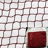 JIN CAN - Rete da Badminton, per Interni o Esterni, per Giardino, Scuola, Cortile, Senza Telaio (Rete in Nylon Intrecciata in Rosso)